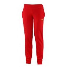 *Женские спортивные брюки Ferrari на резинке внизу, красные