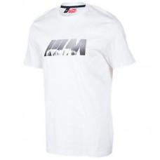 Классическая белая мужская футболка BMW M