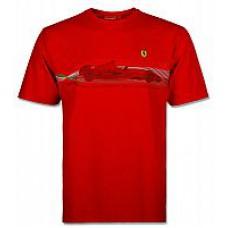 Мужская футболка Ferrari Wind Tunnel, красная