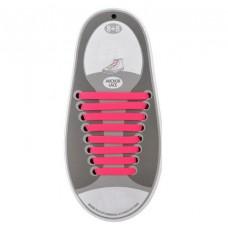 *Эластичные шнурки для обуви, розовые