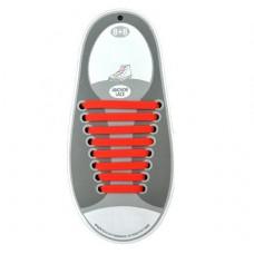Резиновые шнурки для обуви, красные