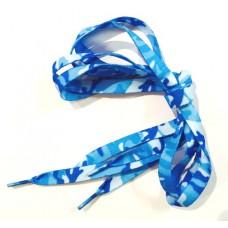*Шнурки для кроссовок Милитари голубые 90 см
