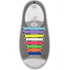 Шнурки-резинки для обуви, разноцветные