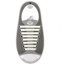 *Силиконовые шнурки для обуви, белые