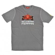 Серая мужская футболка Ferrari Болид F1