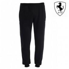 Мужские спортивные штаны PUMA Ferrari с манжетами, черные