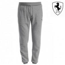 Мужские спортивные штаны PUMA Ferrari с манжетами, серые