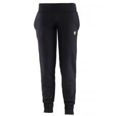 *Женские спортивные штаны Ferrari на резинке внизу, чёрные