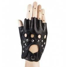 Мужские авто перчатки кожаные (без пальцев)
