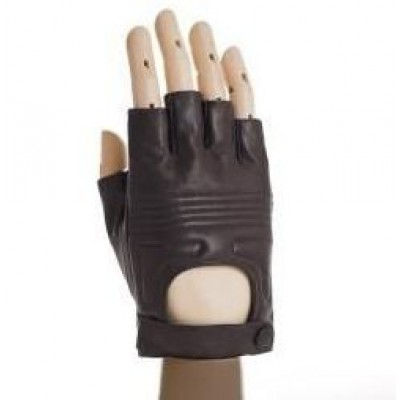*Кожаные водительские перчатки (без пальцев)