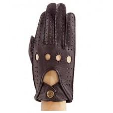 Мужские водительские перчатки, коричневые