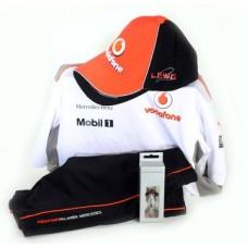 Подарок мальчику: Спортивный костюм, Кепка и Брелок  Vodafone McLaren Mercedes