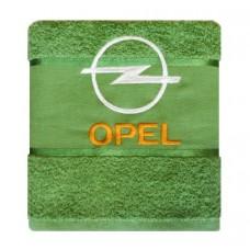 Махровое полотенце 50х90  OPEL, зелёное