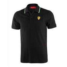 Мужская футболка-поло Ferrari, чёрного цвета NEW!
