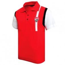 Мужское поло Ducati Corse красного цвета