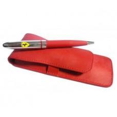 *Шариковая ручка Ferrari в подарок в чехле из эко-кожи