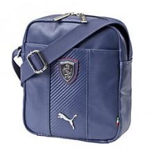 *Брендовая мужская сумка PUMA Ferrari через плечо (синяя)
