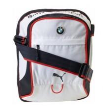 *Маленькая спортивная мужская сумка BMW Motorsport, белого цвета