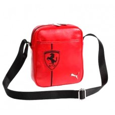 *Мужская сумка Ferrari через плечо из кожзама