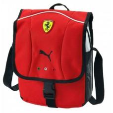 Мужская сумка Ferrari через плечо из ткани, красного цвета