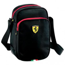 *Текстильная мужская сумка Ferrari, через плечо