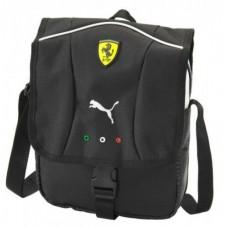 Тканевая мужская сумка Ferrari через плечо, чёрная
