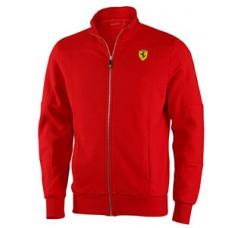 Мужская толстовка Ferrari на молнии  красного цвета