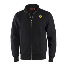 Мужская толстовка  Ferrari на молнии, черного цвета