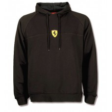 *Мужская толстовка с капюшоном Stripe Ferrari черного цвета (худи)