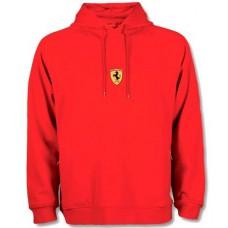 Мужская толстовка с капюшоном Stripe Ferrari красного цвета (худи)