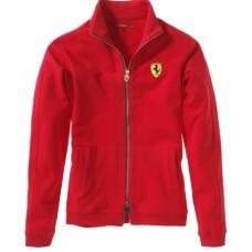 *Женская толстовка на молнии Ferrari красного цвета
