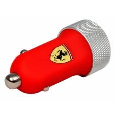 Красное автомобильное зарядное устройство Ferrari Dual USB