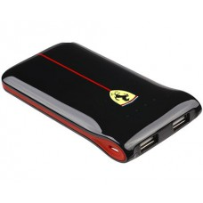 Внешний портативный аккумулятор USB Ferrari, черный