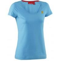 *Женская футболка Ferrari Alonso голубого цвета