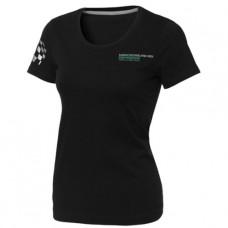 *Женская футболка Mercedes AMG Petronas F1 Team Fan черного цвета