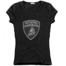 *Женская футболка Mosaic Lamborghini black черного цвета