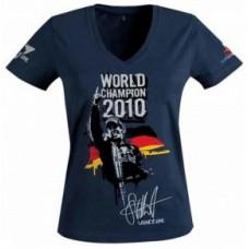 Женская футболка Vettel Red Bull Racing, синяя