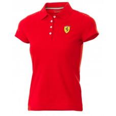 Женская рубашка-поло Ferrari Classic красного цвета