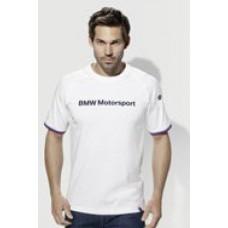 Белая мужская футболка BMW Motorsport