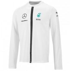 *Белая мужская кофта Mercedes GP by HUGO BOSS с длинным рукавом