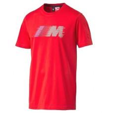 Красная мужская футболка BMW M