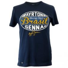 Мужская футболка Ayrton Senna, синяя