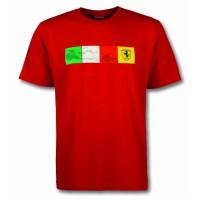 Мужская футболка Ferrari Check, красная