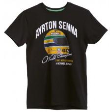 Мужская футболка с надписью Ayrton Senna World Champion