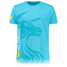 *Мужская именная футболка McLaren Honda Alonso, синяя