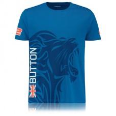 *Мужская именная футболка McLaren Honda Button, синяя