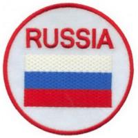 Круглая нашивка с надписью РОССИЯ