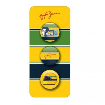 Набор круглых значков Ayrton Senna