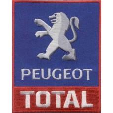 Нашивка на одежду Peugeot Total