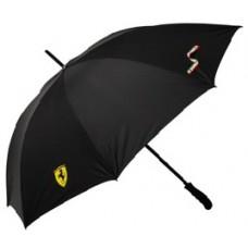 *Фирменный мужской зонт-трость Ferrari, черного цвета